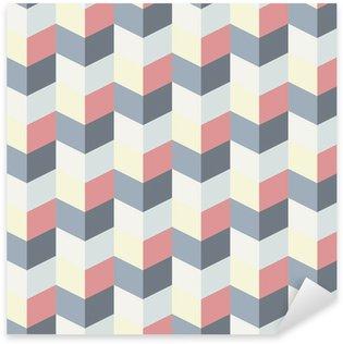 abstract retro geometric pattern Sticker - Pixerstick
