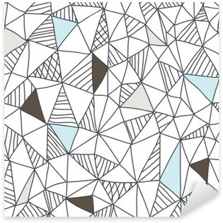 Abstract seamless doodle pattern Sticker - Pixerstick