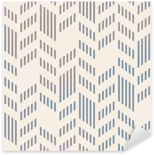 Sticker - Pixerstick Abstract Seamless Geometric Vector Chevron Pattern. Mesh backgro