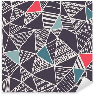Sticker Pixerstick Abstract seamless pattern doodle