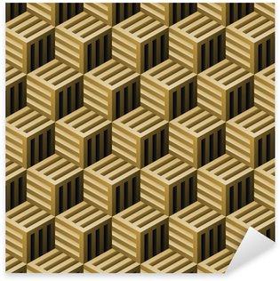 Sticker Pixerstick Abstract seamless pattern