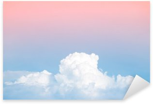 Sticker - Pixerstick abstract soft sky cloud with gradient pastel vintage color for backdrop background use
