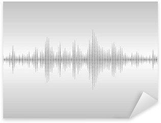 Sticker - Pixerstick Abstract sound waves.