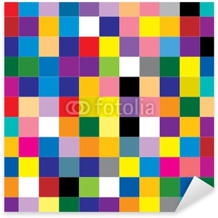 abstract square Sticker - Pixerstick