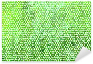 Sticker - Pixerstick Abstract stone mosaic in green colors with white joints.