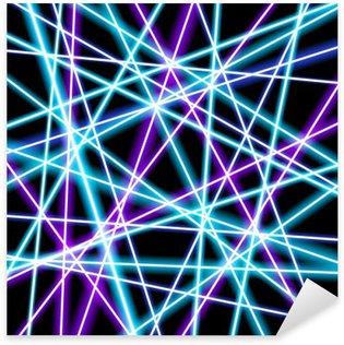Pixerstick Sticker Abstract vector achtergrond, meer gloeiende lijnen, meetkunde, technologie, neon behang