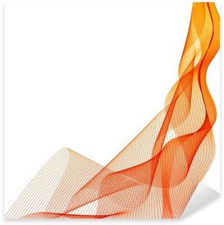 Pixerstick Sticker Abstract wave vector oranje verticale achtergrond lijnen