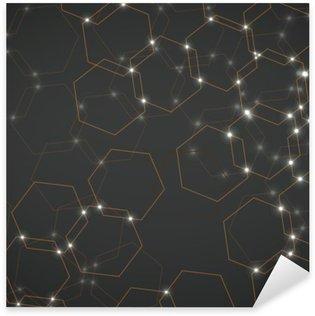 Pixerstick Sticker Abstracte achtergrond van zeshoekige cellen, geometrisch ontwerp vector illustratie eps 10