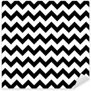 Pixerstick Sticker Abstracte geometrische zigzag naadloos patroon. vector