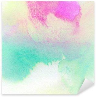 Pixerstick Sticker Abstracte kleurrijke aquarel geschilderde achtergrond