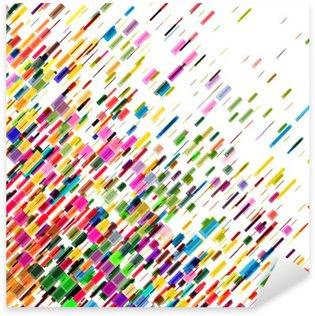 Pixerstick Sticker Abstracte kleurrijke bewegende lijnen, vector achtergrond