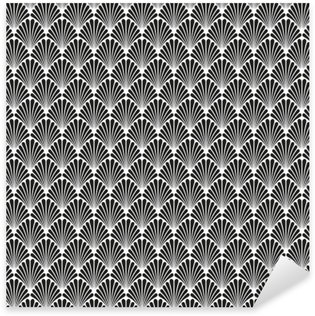 Pixerstick Sticker Abstracte Naadloze Art Deco Vector Patroontextuur