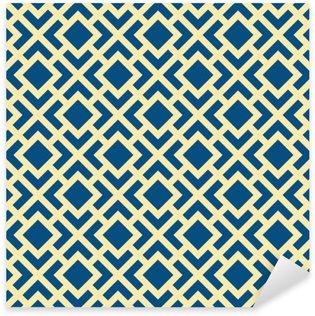 Pixerstick Sticker Abstracte Naadloze Geometrische Art Deco Lattice Vector Pattern