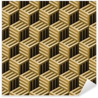 Pixerstick Sticker Abstracte naadloze patroon