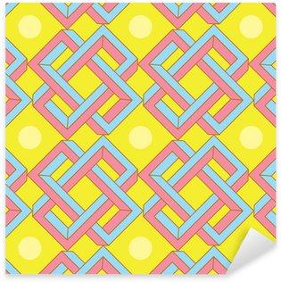 Pixerstick Sticker Abstracte Optische illusie Patroon in Japanse stijl