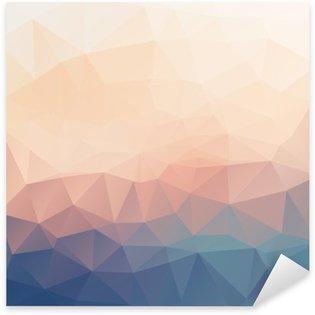 Pixerstick Sticker Abstracte poligonal gestructureerde achtergrond.