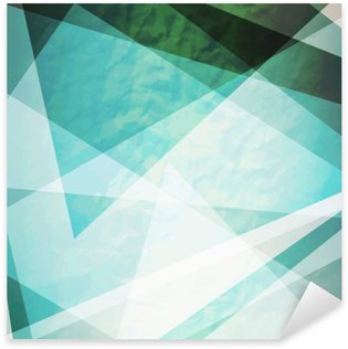 Sticker Pixerstick Abstraction triangles grunge rétro vecteur de fond