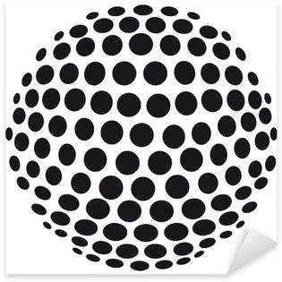Abstrakte 3D-Kugel aus Kreisen - freigestellt Sticker - Pixerstick