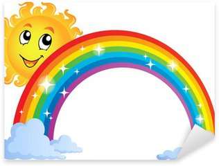 Pixerstick Sticker Afbeelding met regenboog thema 8