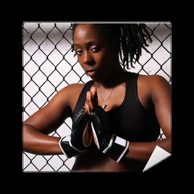 African American MMA Fighter Sticker • Pixers® • We live ...  |African American Mma Fighters
