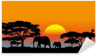 Sticker - Pixerstick African savanna