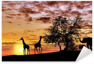 Sticker - Pixerstick African sunset