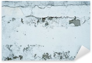 Pixerstick Sticker Afschilferende verf op een stenen muur