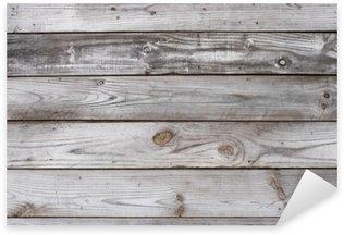 Pixerstick Sticker Aged houten textuur Horizontale