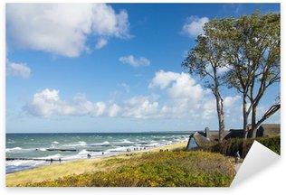 Sticker Pixerstick Ahrenshoop, Maison dans les dunes, la Chambre des frontières, Darss, mer Baltique