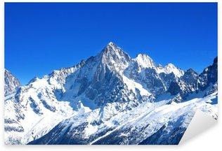 Sticker - Pixerstick Aiguille Verte - Massif du Mont-Blanc (Haute-Savoie)