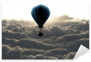 air balloon on sky Sticker - Pixerstick