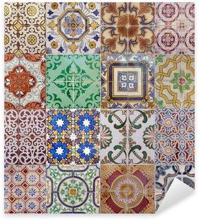 Sticker Pixerstick Ajulejos muliticolor