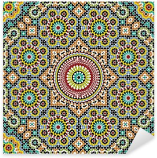 Akram Morocco Pattern Three Sticker - Pixerstick
