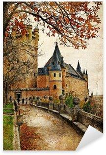 Sticker Pixerstick Alcazar, Ségovie - châteaux d'Espagne