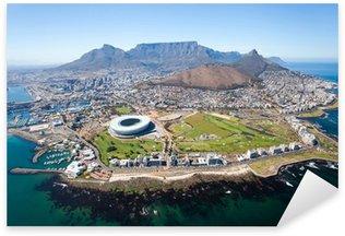 Pixerstick Sticker Algemene luchtfoto van Kaapstad, Zuid-Afrika