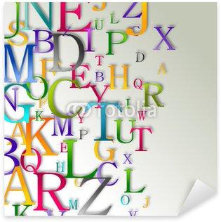Sticker Pixerstick Alphabet abstrait