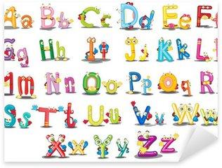 Alphabet characters Sticker - Pixerstick