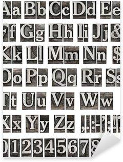 Sticker Pixerstick Alphabet de lettres métalliques anciens