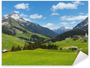 Pixerstick Sticker Alpine view (Vorarlberg, Oostenrijk)