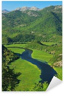 Sticker - Pixerstick Amazing view of Rijeka Crnojevica. Skadar lake national park
