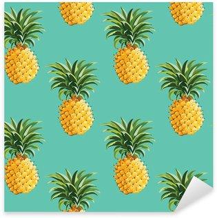Sticker Pixerstick Ananas Contexte Tropical - dans le vecteur