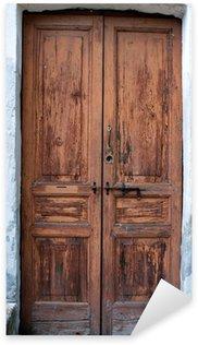 Sticker Pixerstick Ancien image en bois de porte de couleur