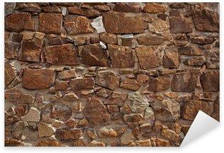 Ancient wall made of many bricks Sticker - Pixerstick