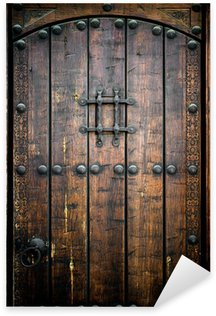 Sticker - Pixerstick Ancient wooden door