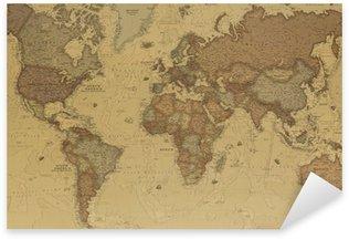 Pixerstick Sticker Ancient World map