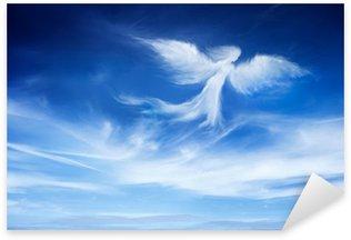 Sticker Pixerstick Ange dans le ciel