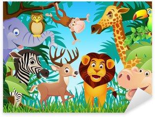 Sticker Pixerstick Animal cartoon