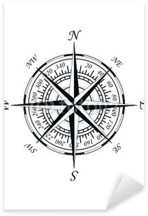 Antique (old - style) magnetic compass - wind rose Sticker - Pixerstick