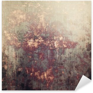 Sticker - Pixerstick Antique vintage textured background. With different color patterns: yellow (beige); brown; gray; black