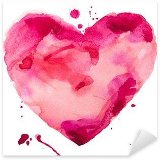Pixerstick Sticker Aquarel hart. Concept - liefde, relatie, kunst, schilderen